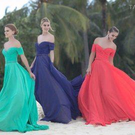 لباس-شیک-زنانه-قرمز-آبی-سبز-تیره