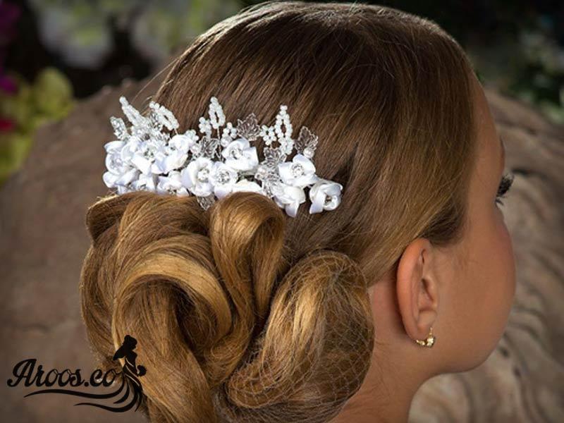 مدل تاج و تل و گل سر عروس جدید