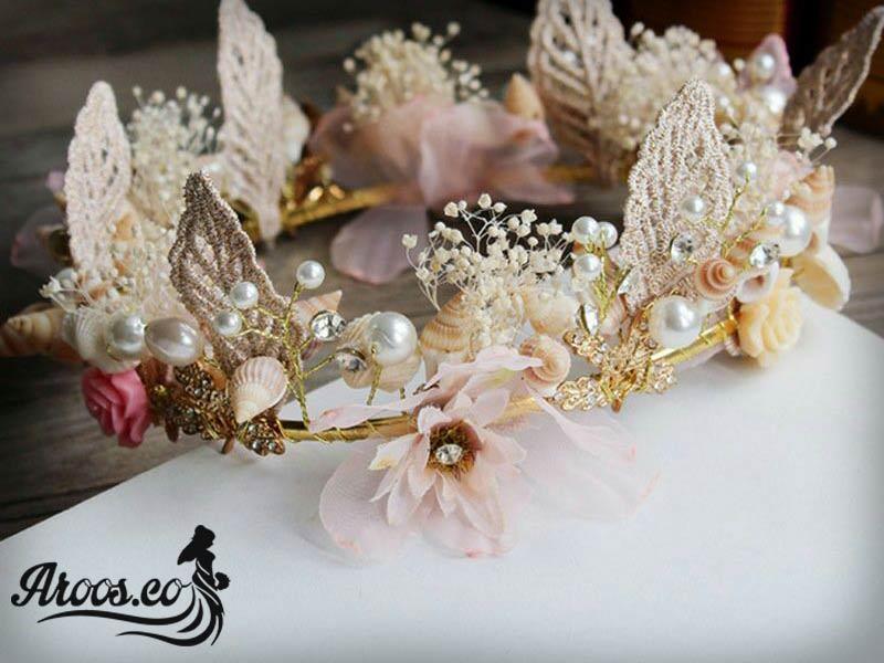مدل تاج و تل و گل سر عروس