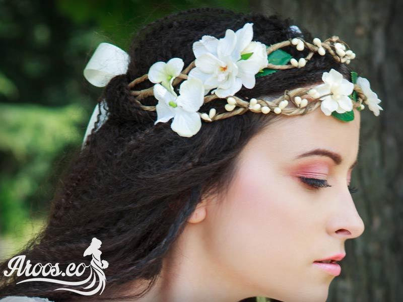تاج عروس گل طبیعی