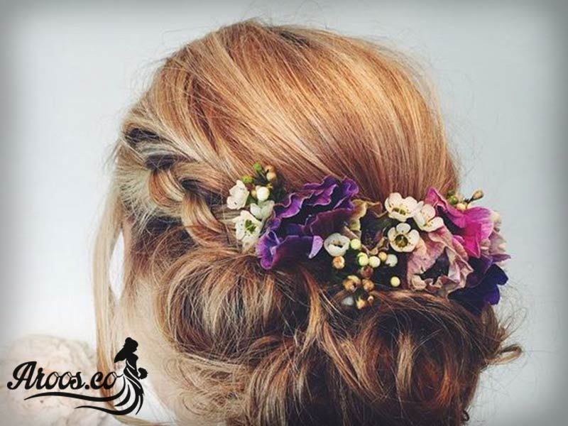 تاج عروس مارک لازورد مدل گل