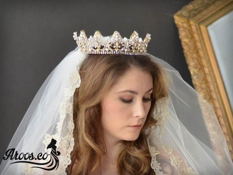 انواع جدید ترین مدل های تاج عروس
