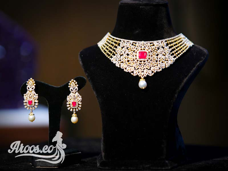 سرویس جواهر طلا و قرمز