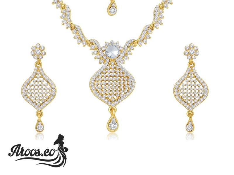 شیک ترین نیم ست های طلا و جواهر