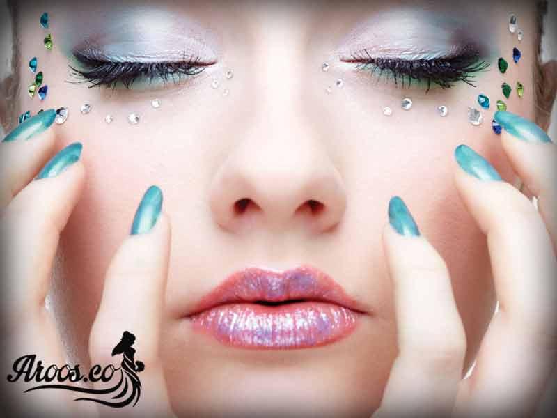 ارایش چشم عروس عربی