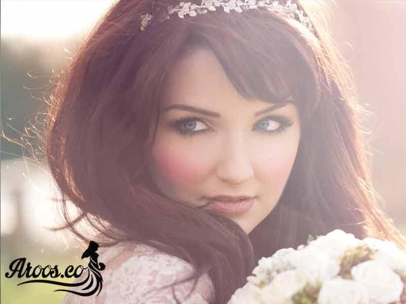 میکاپ صورت عروس