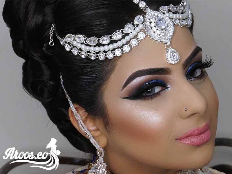 رنگ موی مشکی عروس