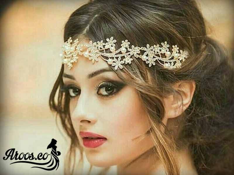 آرایش عروس با موی تیره