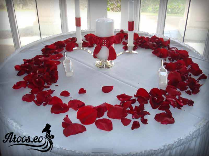 جهیزیه عروس سفید ساده