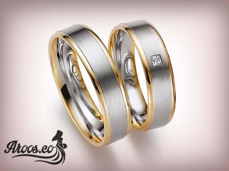 ست حلقه ازدواج پلاتین