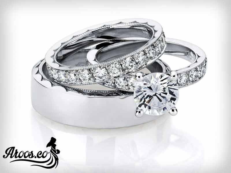 عکس انگشتر تک نگین الماس