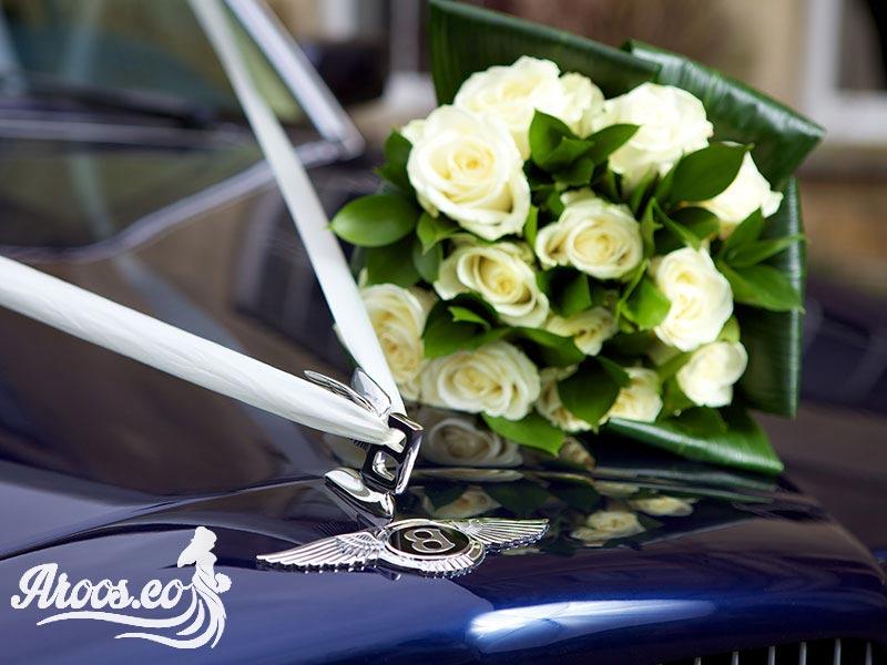 مدل های ماشین عروس با گل