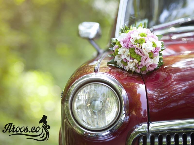 مدل های تزیین ماشین عروس با گل