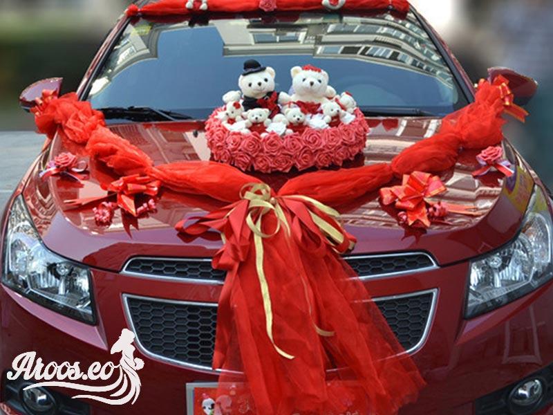 ماشین عروس قرمز