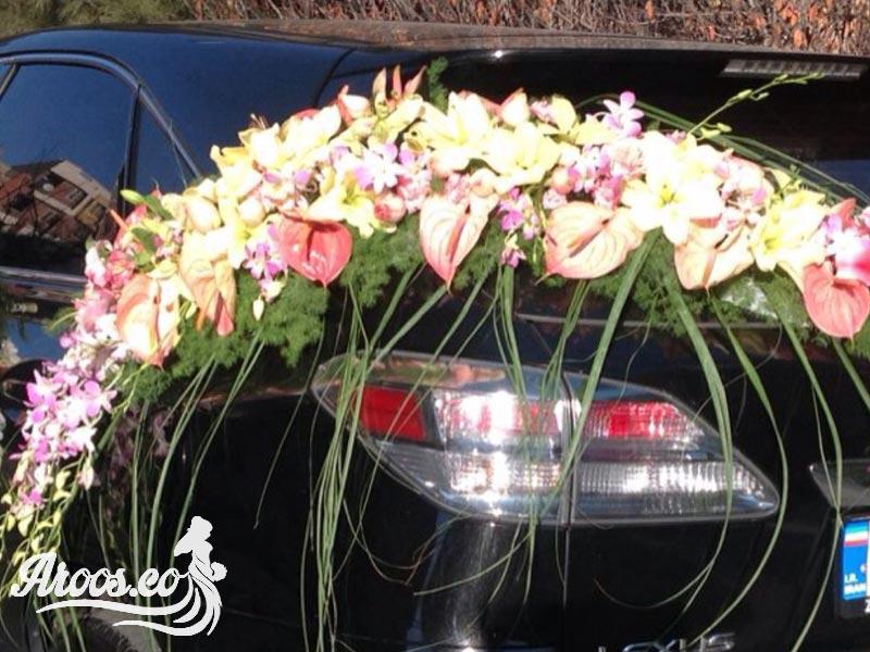 گل آرایی متفاوت ماشین عروس