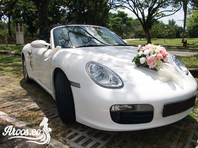 تزیینات شیک ماشین عروس