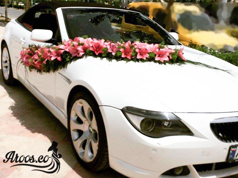 چسب گل ماشین عروس