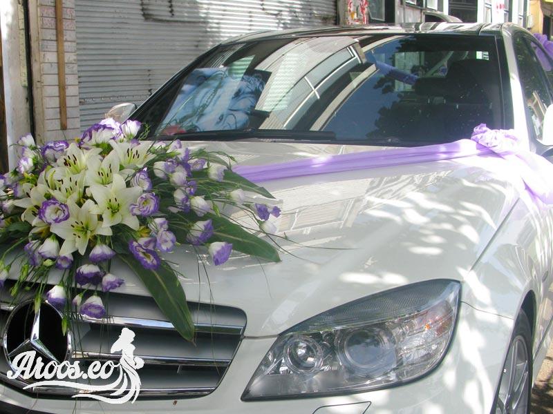 عکس ماشین عروس شیک بنز
