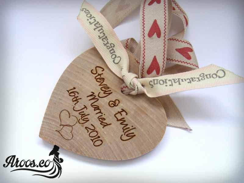 کارت عروسی طرح چوب