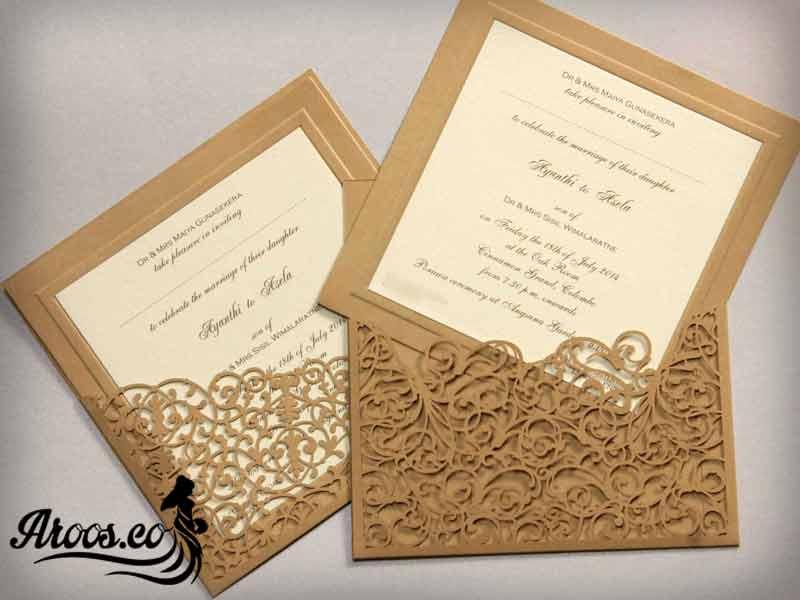 کارت عروسی طلایی