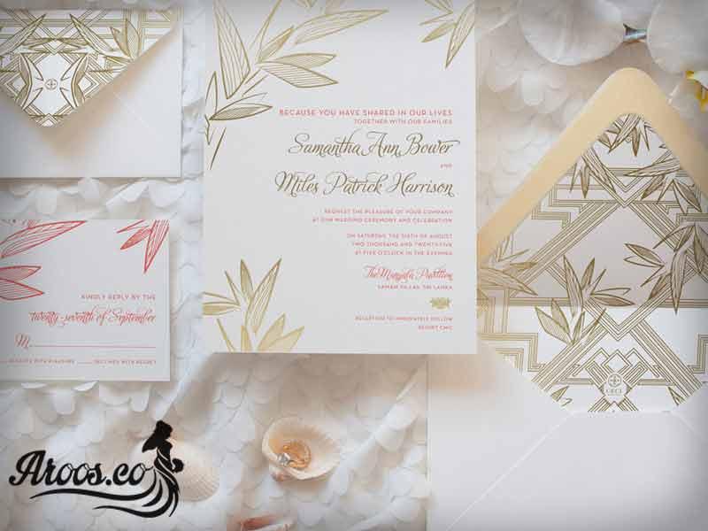 کارت دعوت مراسم عروسی