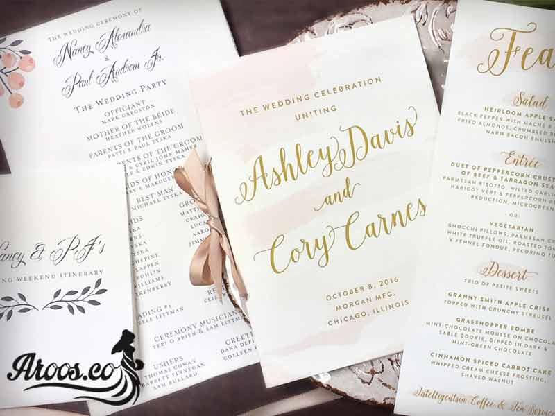 کارت عروسی دست ساز
