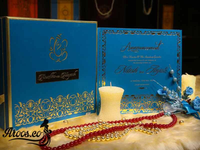 کارت عروسی متالایز طرح لوکس