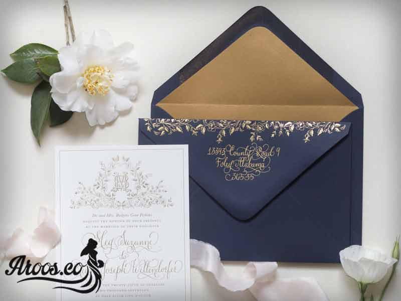 کارت عروسی لوکس و ساده
