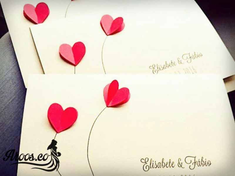 کارت عروسی بسیار ساده