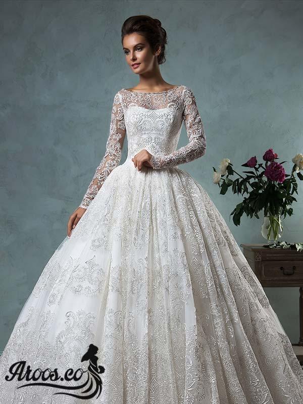 جدیدترین مدل های لباس عروس آستین دار