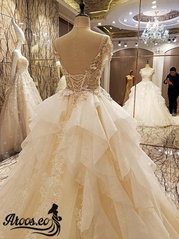 مدل های لباس عروس بدون آستین