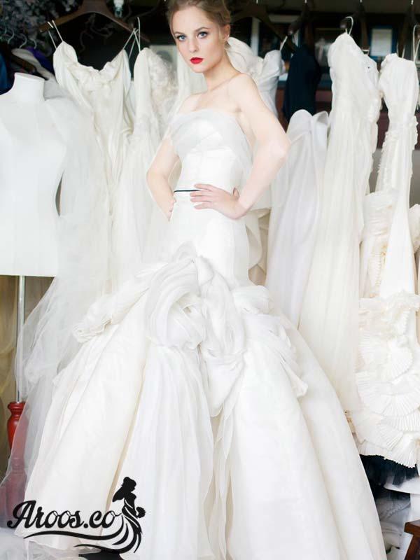 مدل لباس عروس اروپایی پوشیده