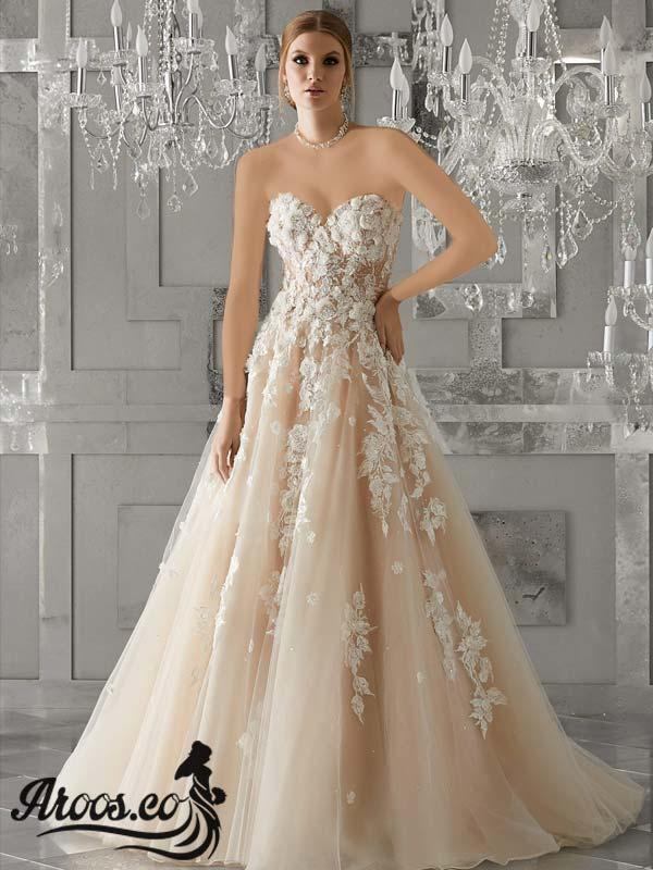 لباس عروس طرح اروپایی