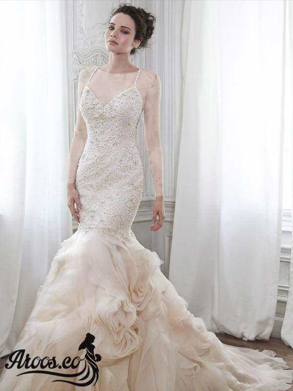 لباس عروس دانتل مدل ماهی