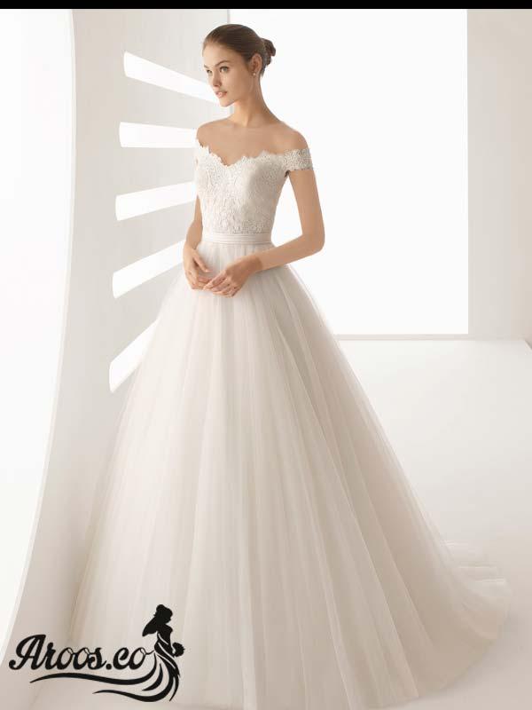 لباس عروس مدل آستین سه ربع چند لایه