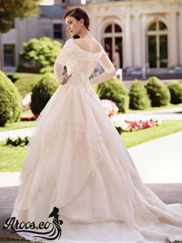 عکس لباس عروس با تور