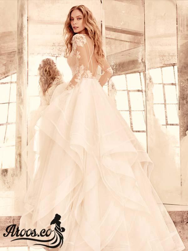 جدیدترین مدل لباس عروس آستین دار