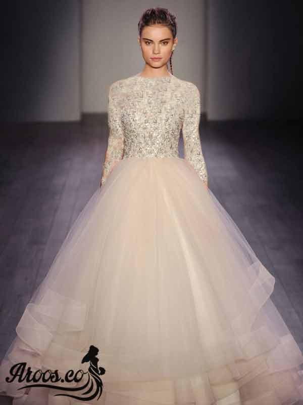 لباس عروس آستین سه ربع جدید