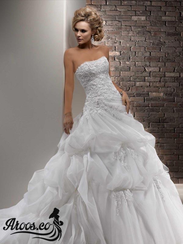 مدل لباس عروس پرنسسی دانتل عروسکی