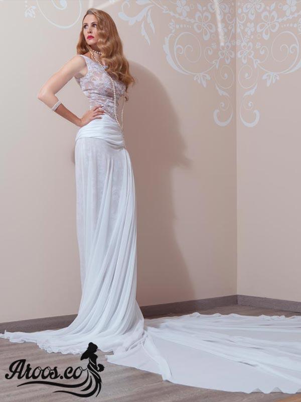مدل لباس عروس بدون آستین