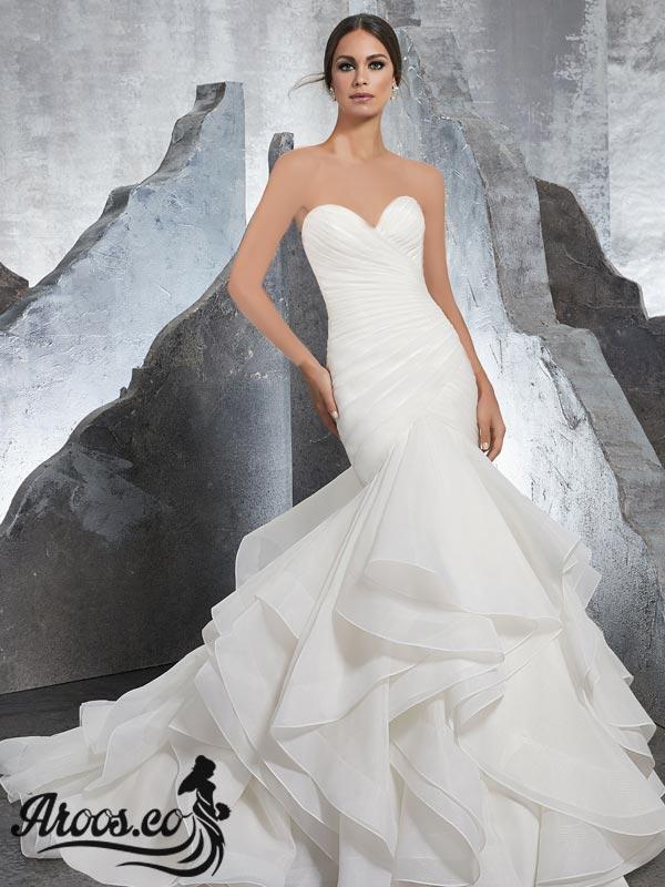 مدل لباس عروس پرنسسی دانتل عروسکی گیپور ماهی پف دار