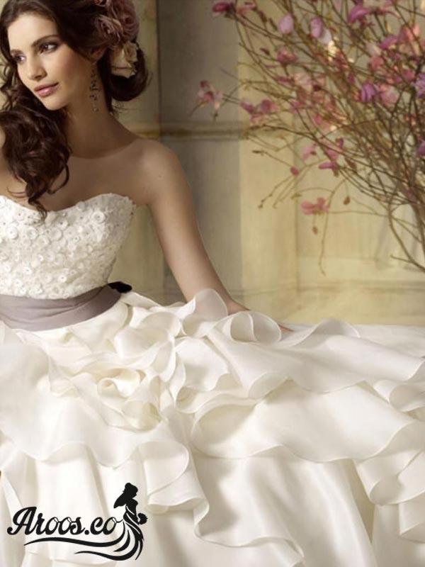 مدل لباس عروس گیپور و دانتل