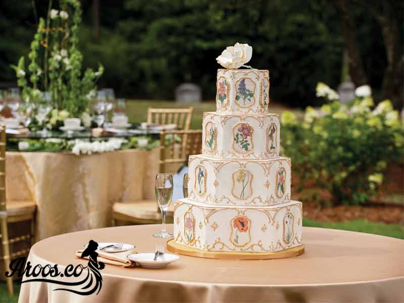 کیک عروسی مربع ای