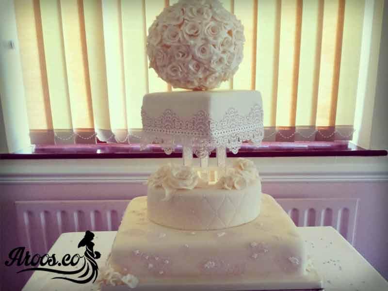 کیک عروسی مستطیلی