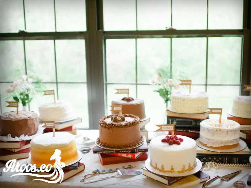 کیک های عروسی متنوع