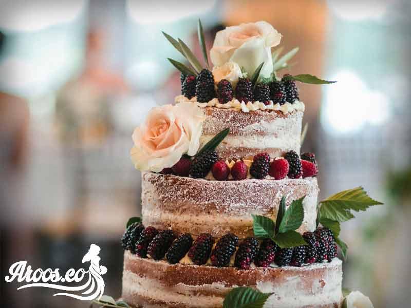 کیک عروسی شکلاتی