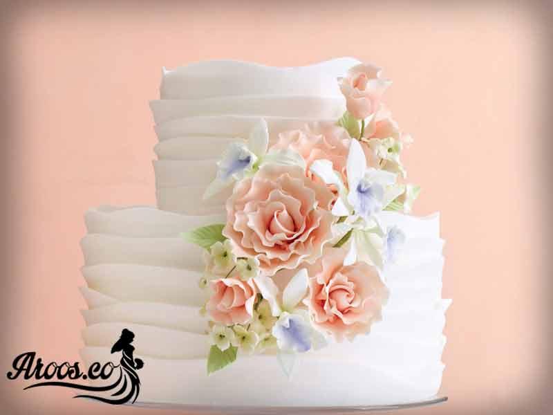 کیک عروسی با فوندانت