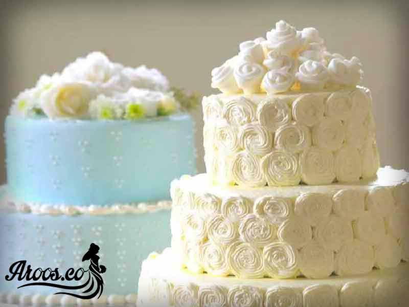 کیک عروسی ساده و زیبا