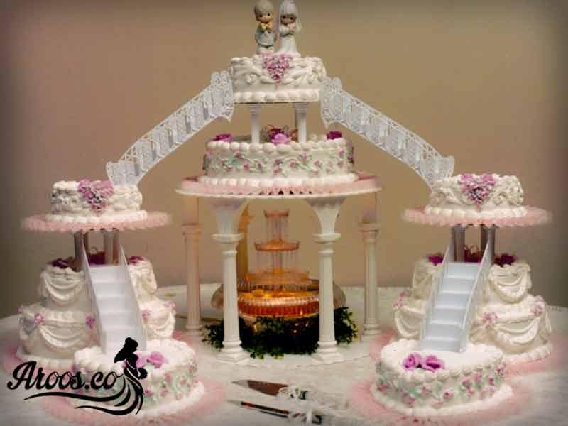 کیک عروسی شکل قلب
