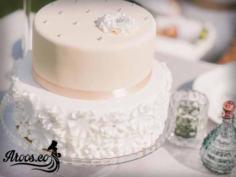 مدل تزیین کیک عروسی شیک جدید
